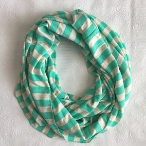 Green and Gray Charming Charlie Infinity Scarf
